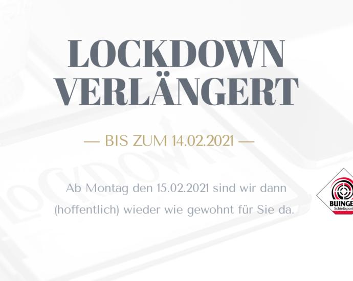 Der Lockdown wurde verlängert und unser Ladenlokal bleibt bis zum 14.02.2021 geschlossen!